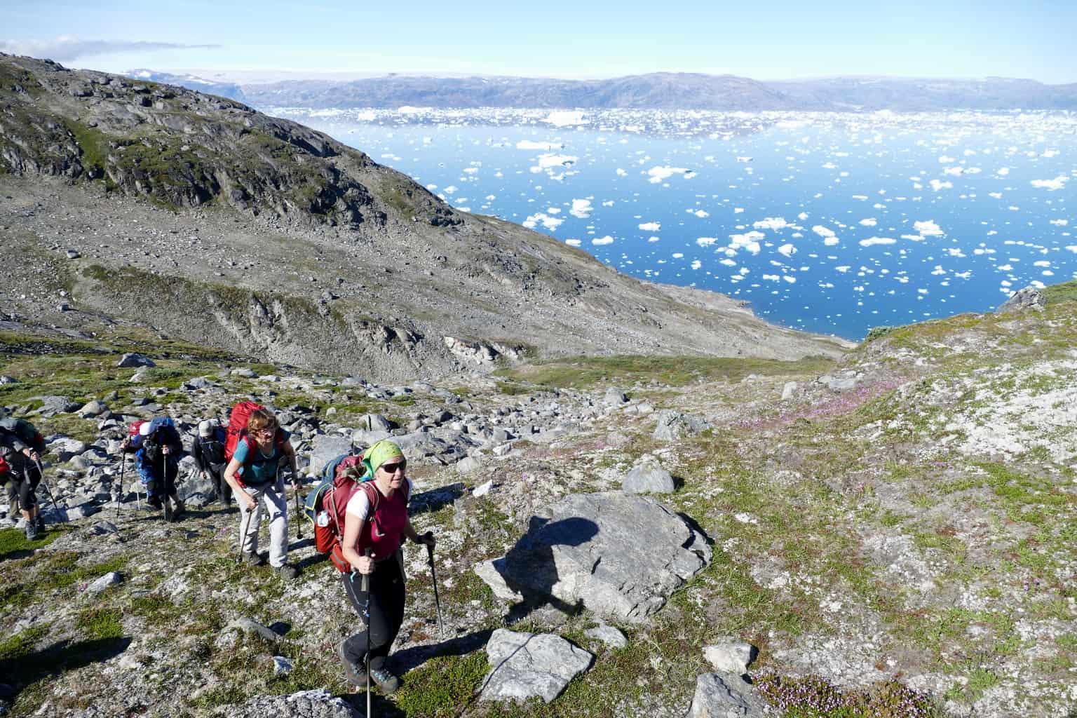 Wandergruppe in Ostgrönland