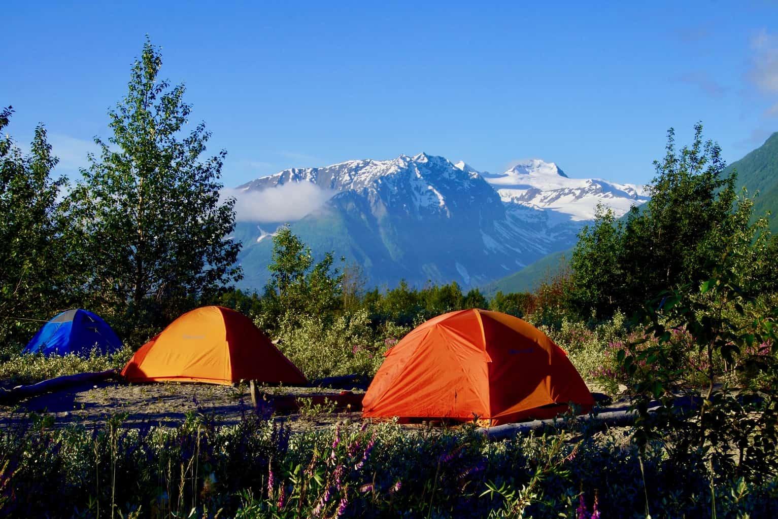 Zeltlager am Copper River Alaska