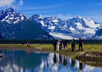 Wandergruppe in Alaska