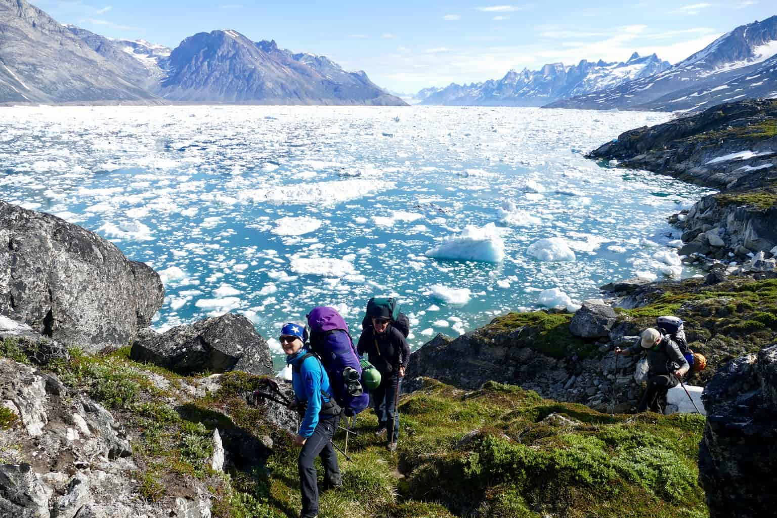 Grönland Trekking am Sermilek Fjord