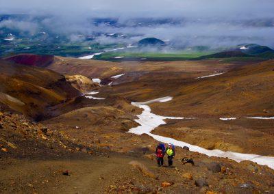 Wanderung zum Mutnovski Vulkan