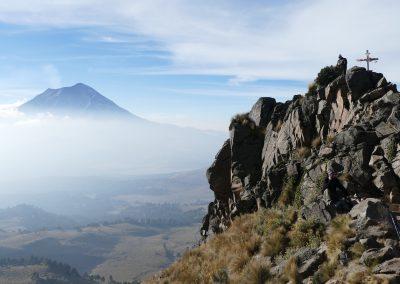 Blick zum Popocatepetl