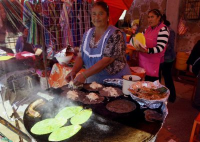frisches Essen am Marktstand